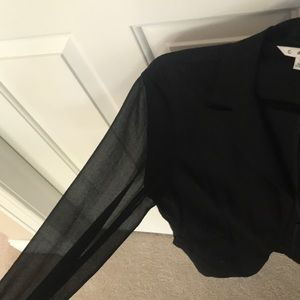 CAbi Jackets & Coats - CABI BLACK BLAZER WITH SHEER SLEEVES